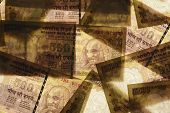 pic of indian currency  - High Resolution Close up of Indian Five Hundred Paper Currency - JPG
