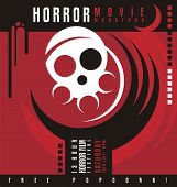 picture of horror  - Horror movie marathon or horror film festival flat poster design - JPG