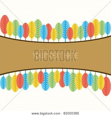 creative natural banner design vector