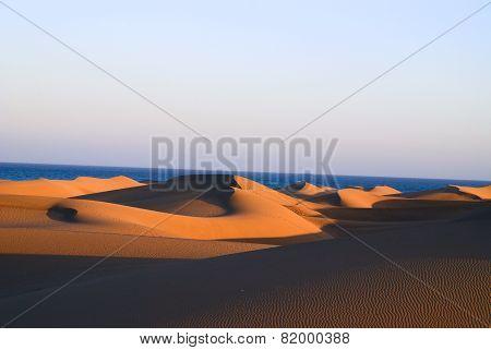 Sand Dunes Of The Island Gran Canaria