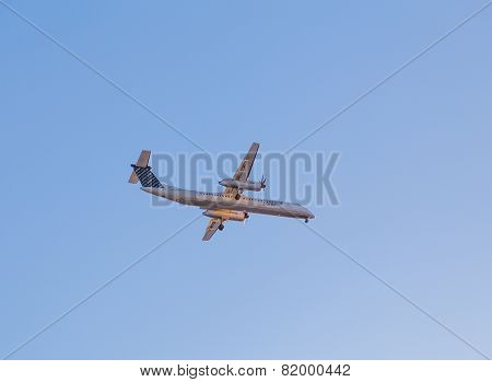 Porter Bombardier Aircraft In The Sky