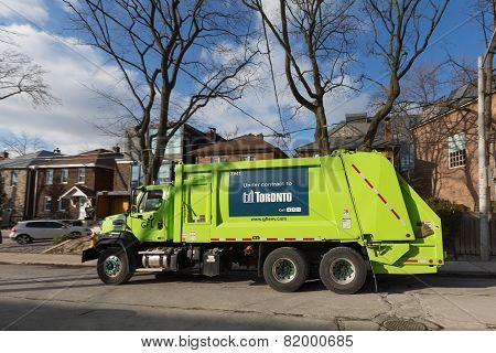 Gfl Garbage Truck In Toronto