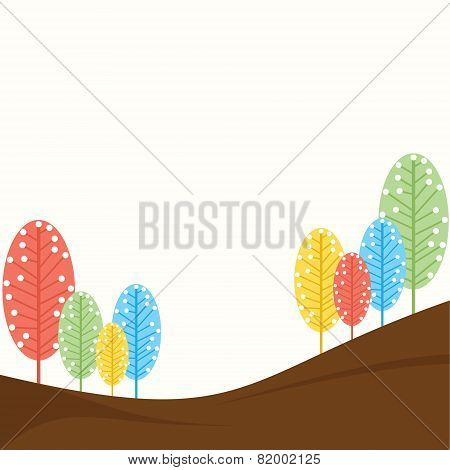 abstract retro tree design background vector