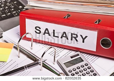 File Folders With The Label Salary