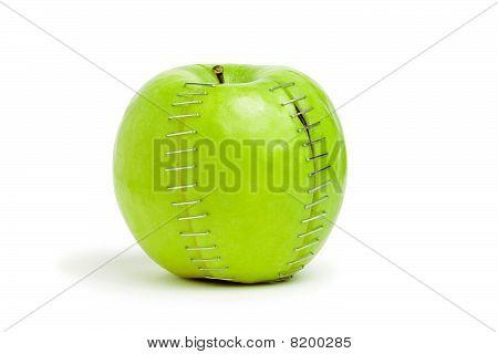 Stapled Green Apple