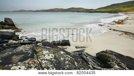Scottish Coastline In Lewis Isle. Hebrides. Scotland. Uk