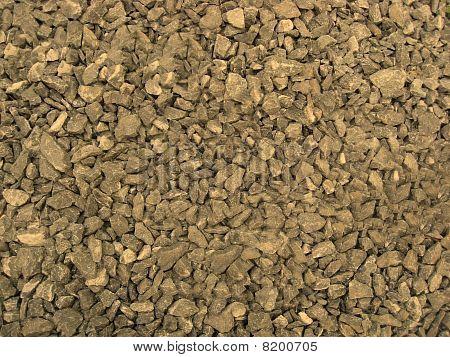 Background Of Rocky Gravel Stones Closeup