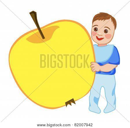 Babe Eats An Apple