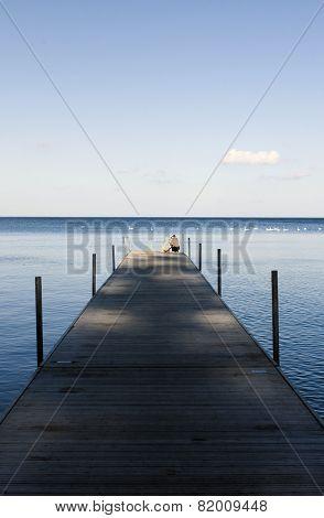 Small pier on seaside