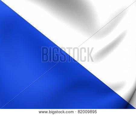 Canton Of Zurich Flag, Switzerland.