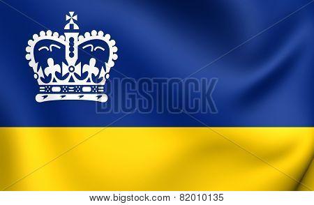 Flag Of Regina, Canada.