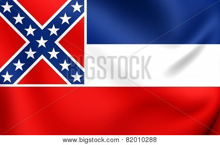 Flag Of Mississippi, Usa.