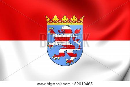 Flag Of Hessen, Germany