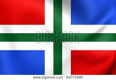 Flag Of Groningen Province, Netherlands