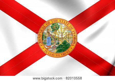 Flag Of Florida, Usa.