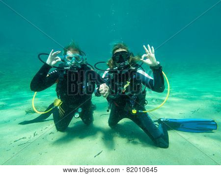 Two Female Divers