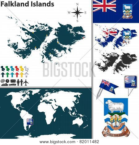 Map Of Falkland Islands