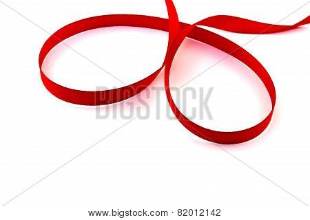Red Tape Loop On A White Background