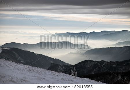 Mountain, Clouds And Horizons - View From Velka Fatra