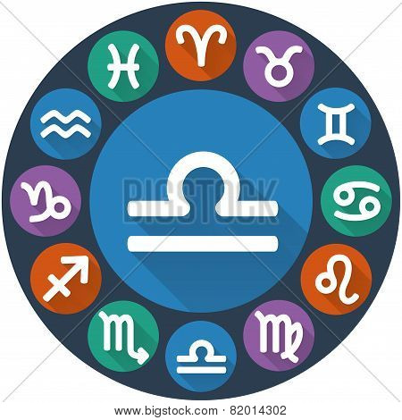 Signs Of The Zodiac Circle - Libra