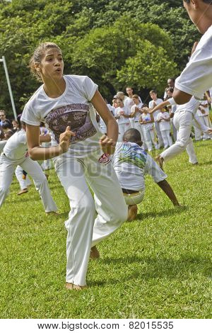Popular Fight And Dance Called Capoeira From Brazil
