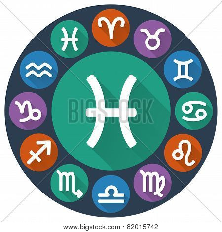 Signs Of The Zodiac Circle - Pisces