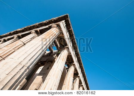 Greek Columns From The Temple Of