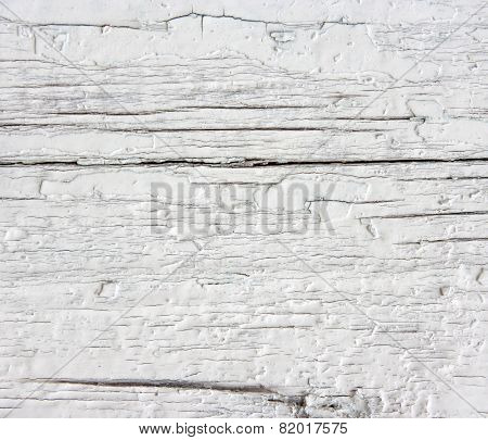 Weathered Wood With White Enamel.