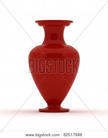 Single Red Vase