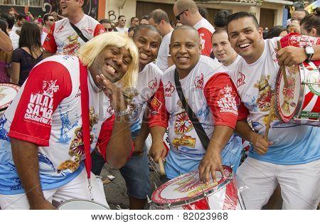 Brazilian Carnival Street Parade In Sao Paulo