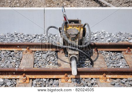 Jackhammer On The Railway.