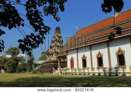 Thai Temple Of Buddhism, Wat Cham Thewi In Lamphun, Thailand