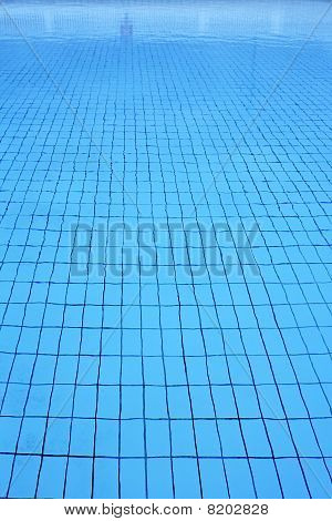 Blue Tiles Pool Vertical Perspective