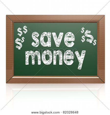 Save Money Words On A Chalkboard