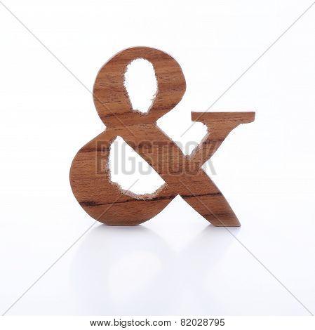 English Alphabet Ampersand Symbol Wooden