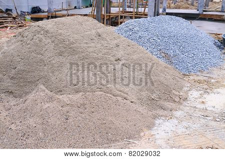 Piles Sand And Gravel For Construction