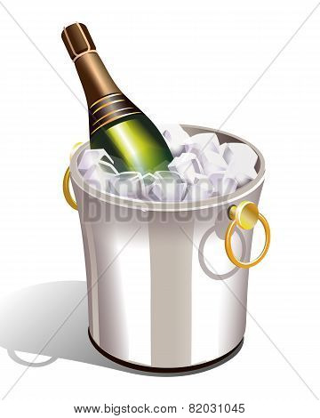 Cooler With Champagne