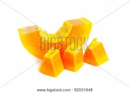 Whole Papaya Fruits On White Background