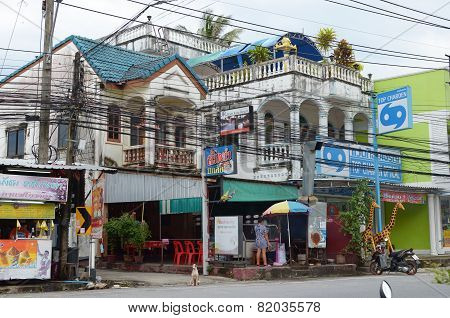 Kata Beach, Phuket-Sept,26 2014:Typical residential house in the streets of Phuket, Thailand