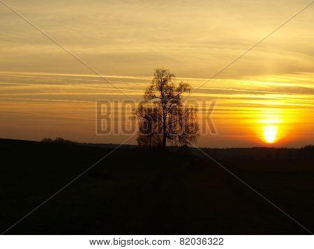 Autumn Sunset , Southern Bohemia