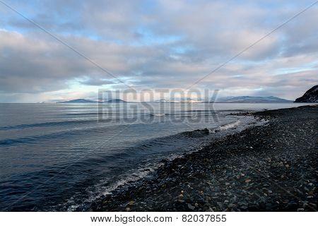 Arctic Coast Of Chukotka  In Summer.