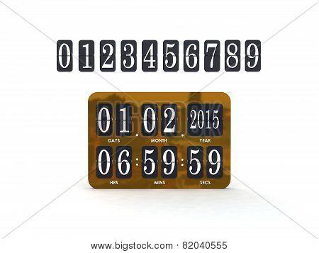 Analog scoreboard digital timer