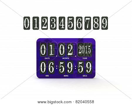 Analog scoreboard digital timer