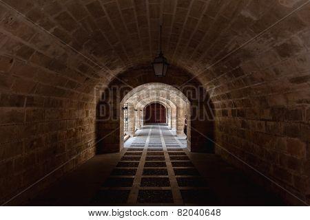 Almudaina And Mallorca Cathedral Tunnel Arches