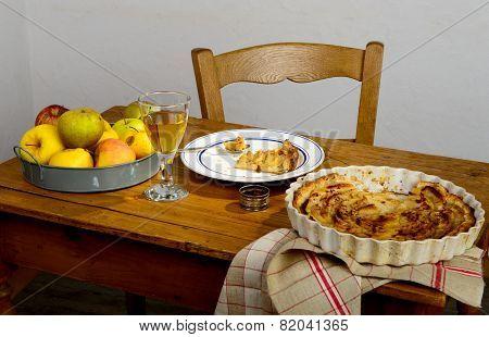Apple Pie On A Table
