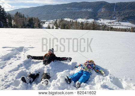 Two Children In The Snow
