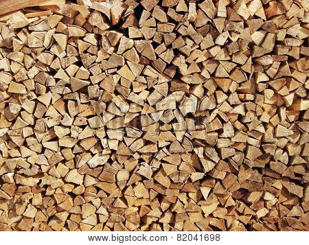 Background Of Dry Chopped Firewood Logs