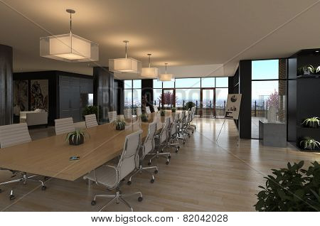 3D rendering / Modern Office - Conference Room
