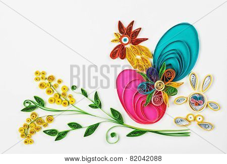 Quilling On A Holiday Theme Happy Easter