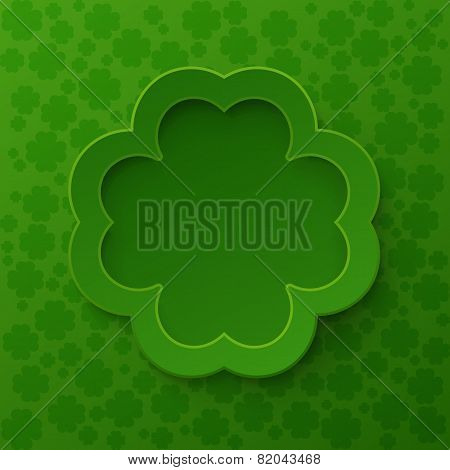 Happy St. Patrick's Day Poster. Clover frame
